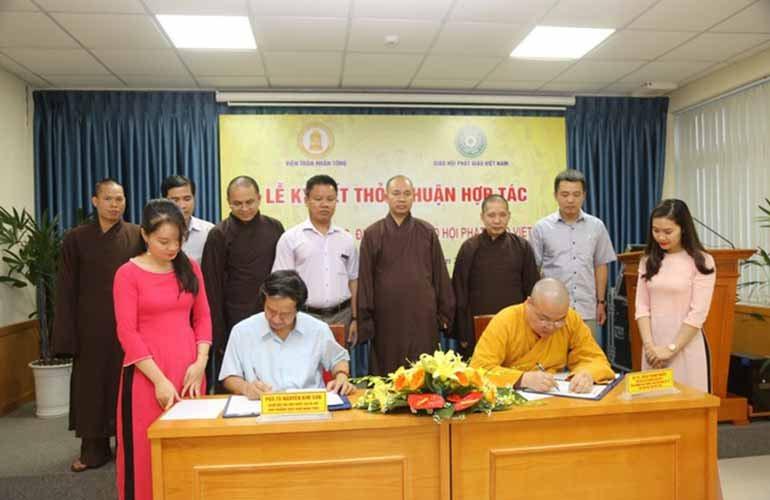 GHPGVN ký kết hợp tác với Viện Trần Nhân Tông