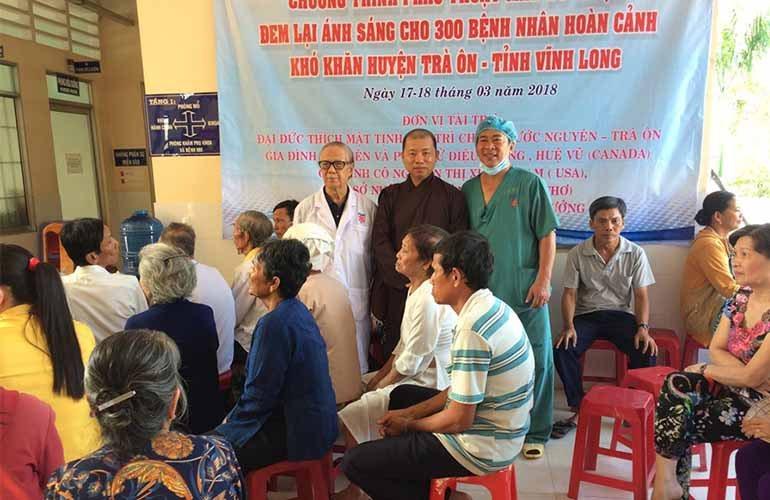 Vĩnh Long: Ban TTXH Phật giáo tỉnh phẫu thuật mắt